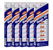 Magic25 Disposable Cigarette Filters - 5 Packs (10 Filters Per Pack)