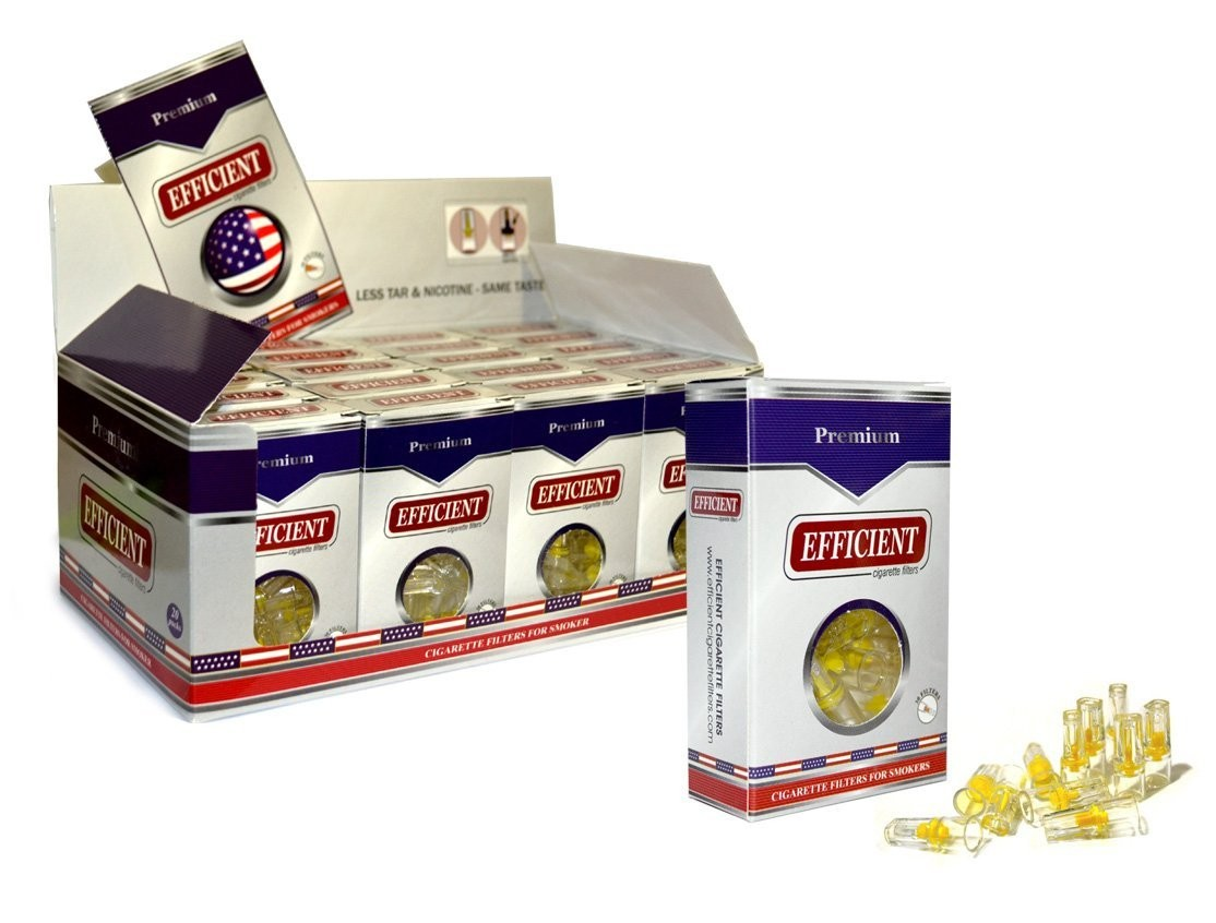 Efficient Cigarette Filters - 20 packs Display Box