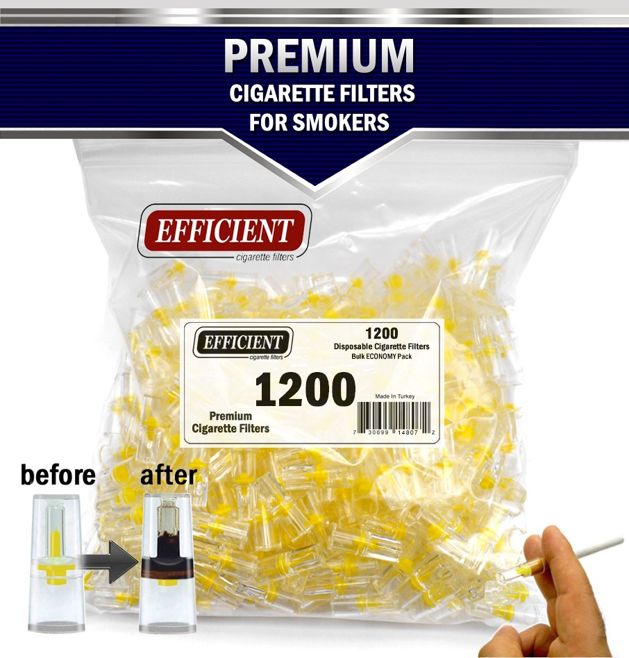 Efficient Disposable Cigarette Filters - Bulk Economy Pack (1200 Per Pack)