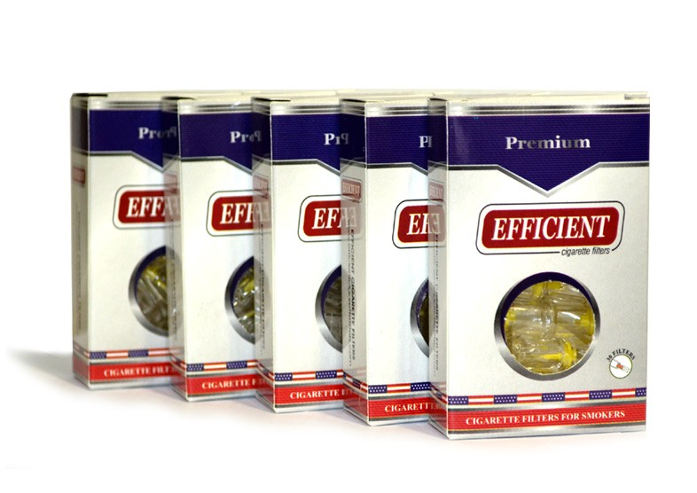 Efficient Cigarette Filters 5 packs  (150 filters)