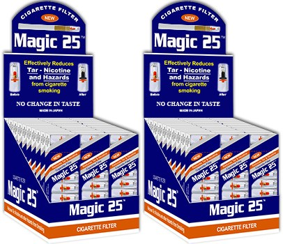 Magic 25 Disposable Cigarette Filters 60 Packs (10 Filters Per Pack)