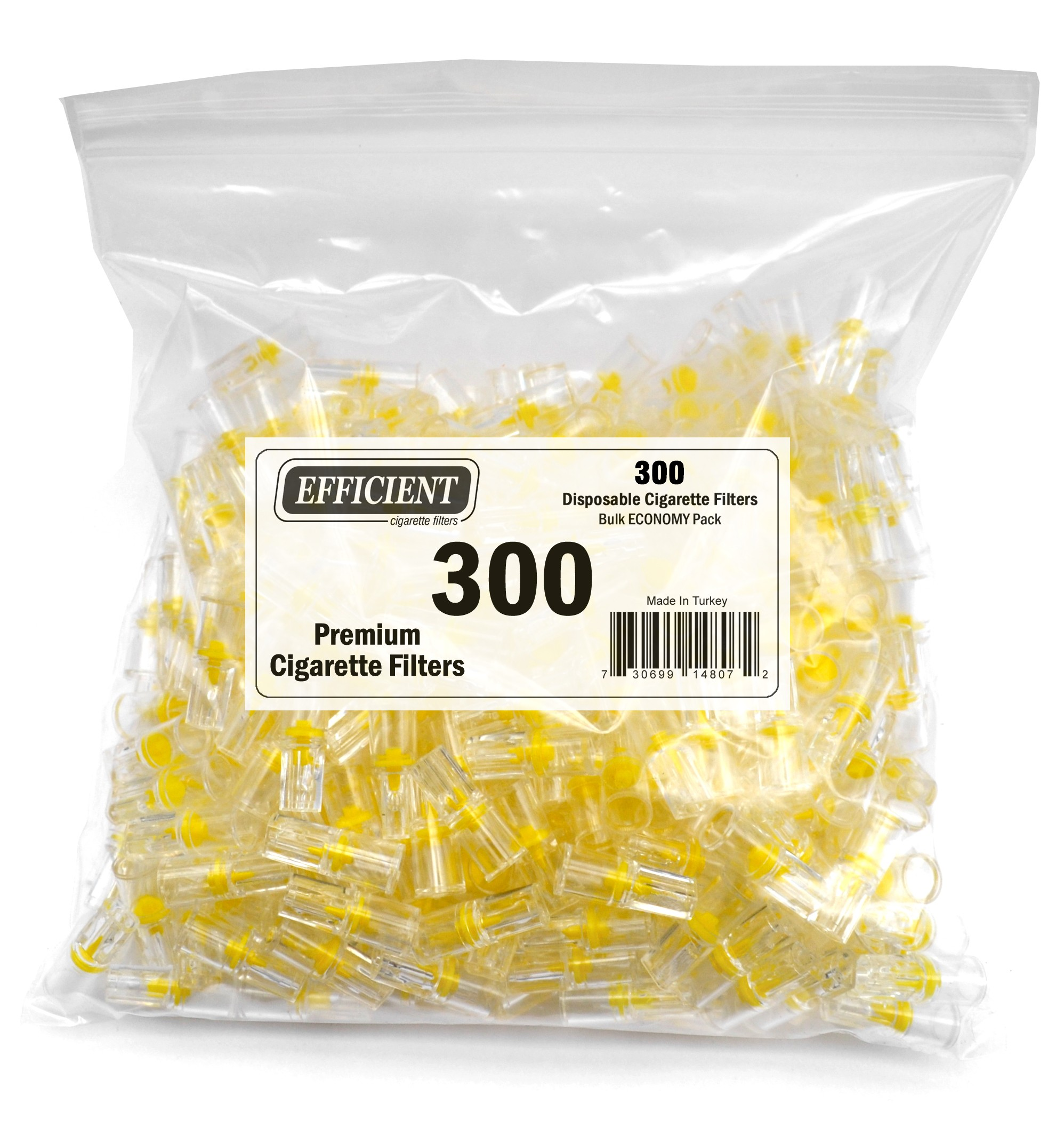Efficient Disposable Cigarette Filters - Bulk Economy Pack (300 Per Pack)