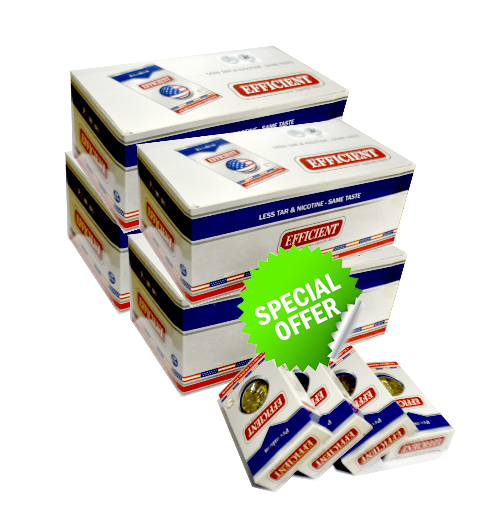 Efficient Cigarette Filters 80 packs Wholesale Special Offer (2400 filters)